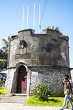Small fortress type building in the Town of Ribeira Brava in the north of the Island of Madeira Stock Images