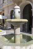 Small fountain in the center of Keszthely, Hungary. Royalty Free Stock Photo