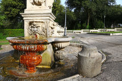 Small fountain in gardens of Villa Borghese Royalty Free Stock Photos