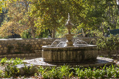 Small fountain near recreation area along the river Jucar, Alcal Royalty Free Stock Images