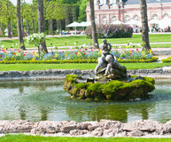 Small fountain in the park royalty free stock photos