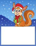 Small frame with Christmas squirrel Royalty Free Stock Photography