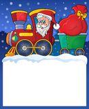 Small frame with Christmas train Royalty Free Stock Photo