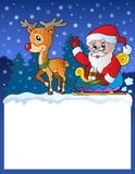 Small frame with Santa Claus 8 Royalty Free Stock Photography