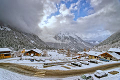 Small french alpine village Royalty Free Stock Photography