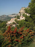 Small French hillside village Royalty Free Stock Photo