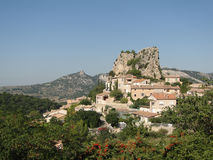 Small French hillside village Royalty Free Stock Image