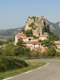 Small French hillside village Stock Photo