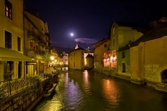 Small French town Annecy Stock Photo