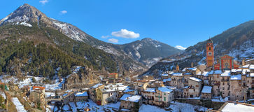 Small french town of Tende in Alps. Stock Images