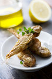 Small fried fish royalty free stock image