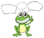 A small frog with empty callouts Royalty Free Stock Images