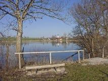 Froschhausen lake near Murnau in Upper Bavaria Stock Photos