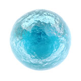 Small frozen planet. Ice cold Stock Image