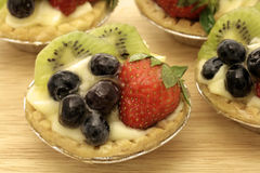 Small fruit tart macro Royalty Free Stock Image