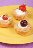 Small fruit tarts Royalty Free Stock Images