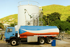 A small fuel depot on Bequia Royalty Free Stock Photos