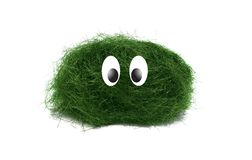Small funny creature. A new character - little, green and cute Stock Photography