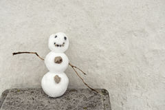 Small funny snowman Royalty Free Stock Photos