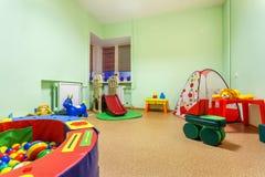 Small Game Room in Kindergarten. Interior Details Small Game Room in Kindergarten Royalty Free Stock Photos