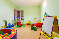 Small Game Room in Kindergarten. Royalty Free Stock Images