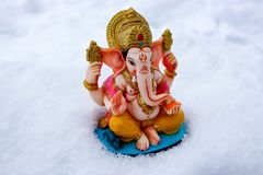 Little winter ganesh Royalty Free Stock Photography