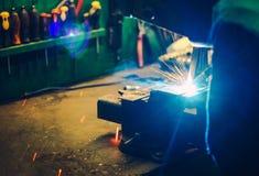 Small Garage Welding Job Stock Photography