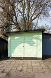 Small garages Stock Image