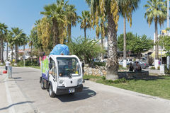 Small garbage truck in Bodrum ,Turkey Royalty Free Stock Photography