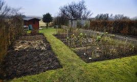 Small garden allotment. Traditional Danish. Stock Photo