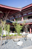 Small garden in Asian temple. Asian temple in Auckland, New Zealand royalty free stock photo