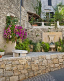 Small Garden in France Stock Photo
