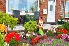 Small garden in front of the Dutch house. Stock Image