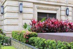 Small garden of fullon hotel, taipei city Royalty Free Stock Photo