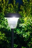 Small Garden Light, Lantern In Flower Bed. Garden Design. Solar Royalty Free Stock Photos