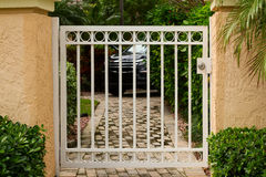 Small garden metal gate Royalty Free Stock Photos