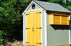 Small Garden Shed. A shed for storage of gardening tools Stock Image