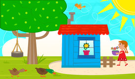 Small Garden Shed Stock Photography
