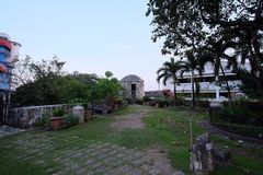 The Small Garden on the Top of Fort San Pedro, Cebu City, Philippines. The park on the top of Fort San Pedro, historic tourist spot in Cebu City, Philippines royalty free stock image