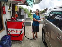 Small Gas Station In Indonesia Stock Image