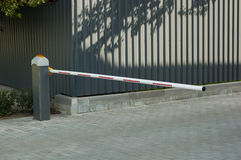 A small gate. At the entrance to the parking area Royalty Free Stock Image