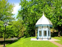 Small gazebo in park in Canada Royalty Free Stock Images