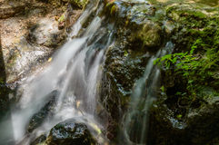 Small gentle cascading waterfall Royalty Free Stock Photography