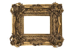 Small Georgian Frame. Small Georgian carved double sweep gilt picture frame royalty free stock photo