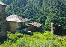 Small Georgian village in the Caucasus Mountains. Georgian village in the Caucasus Mountains stock photo