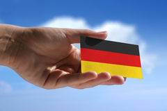 Small german flag Stock Photos