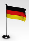 Small german flag clipping path Royalty Free Stock Photos