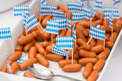 Small german sausages Royalty Free Stock Images
