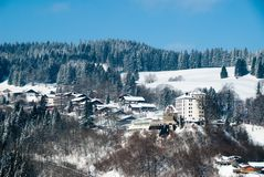 Small german village in winter Stock Photography