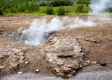 Small geyser Stock Photo